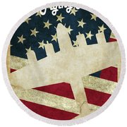 B17 Flying Fortress Vintage Round Beach Towel