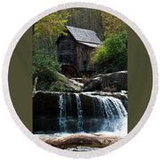 Babcock Grist Mill Round Beach Towel