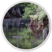 Babcock Wilderness Ranch - Peaceful Alligator Lake Round Beach Towel
