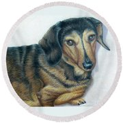 Babe Round Beach Towel
