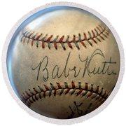 Babe Ruth Baseball. Round Beach Towel