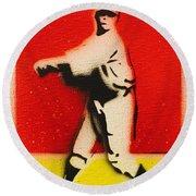 Babe Ruth  Round Beach Towel