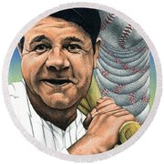 Babe Ruth Round Beach Towel