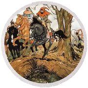 Babes In The Wood Round Beach Towel