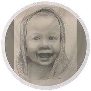 Baby 2 Portrait Round Beach Towel