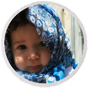 Baby Blues Jerusalem Round Beach Towel