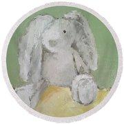 Baby Bunny Round Beach Towel