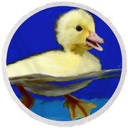Baby Duck Round Beach Towel