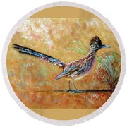 Baby Roadrunner Round Beach Towel