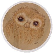 Baby Sloth Round Beach Towel