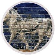 Babylon: Enamel Brick Bull Round Beach Towel