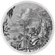 Babylon: Sun Worship Round Beach Towel