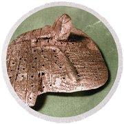 Babylonian Cuneiform Round Beach Towel