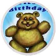 Babys First Birthday Round Beach Towel