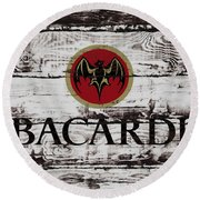 Bacardi Wood Art Round Beach Towel