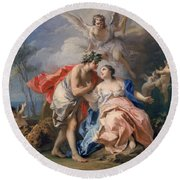 Bacchus And Ariadne Round Beach Towel