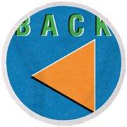 Back Button Round Beach Towel
