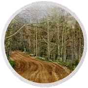 Back Road Home Round Beach Towel