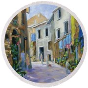 Back Street Round Beach Towel