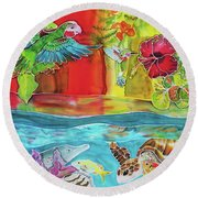 Back To Eden Round Beach Towel