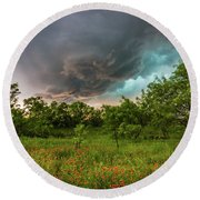 Back To Life - Spring Returns To Western Texas Round Beach Towel