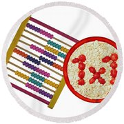Back To School Round Beach Towel