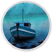 Back To Shore Round Beach Towel