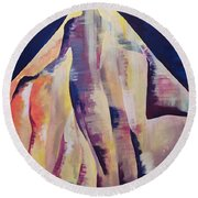 Back To The Background Round Beach Towel