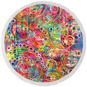 Back To The Beginning Round Beach Towel