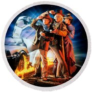 Back To The Future Part IIi 1990 Round Beach Towel