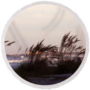 Back To The Shores Round Beach Towel