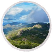 Backbone Trail Santa Monica Mountains Round Beach Towel