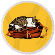 Backpack Nap Round Beach Towel