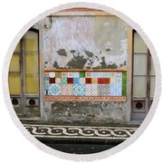 Backstreets Of Palma De Mallorca Round Beach Towel
