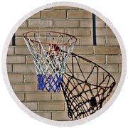 Backyard Basketball Round Beach Towel