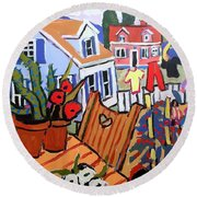 Backyard Round Beach Towel
