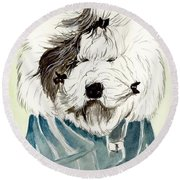 Bad Hair Day Round Beach Towel