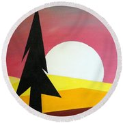 Bad Moon Rising Round Beach Towel