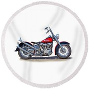 Bad To The Bone  Round Beach Towel