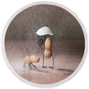 Bad Weather 02 Round Beach Towel