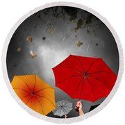 Bad Weather Round Beach Towel