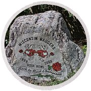 Badgers Rose Bowl Win 2000 Round Beach Towel