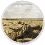 Badlands 2 Round Beach Towel