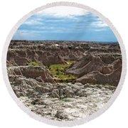 Badlands 8 Round Beach Towel