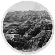 Badlands Of South Dakota #2 Round Beach Towel