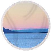 Badwater - Death Valley Round Beach Towel