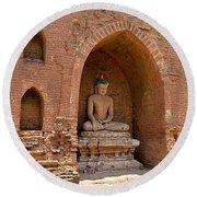 Bagan, Burma Round Beach Towel