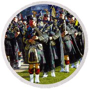 Bagpipes Round Beach Towel