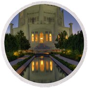 Bahai Temple Round Beach Towel