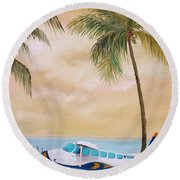 Bahama Bound Round Beach Towel